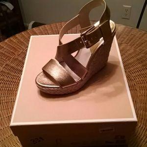 "New! Michael Michael Kors ""Giovanna wedge"" sandals"